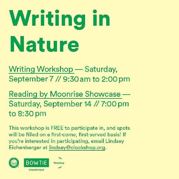 Writing in Nature with Clockshop